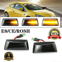 Dynamische LED Seitenblinker schwarz für Opel Astra H Corsa D Zafira B Insignia