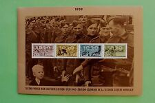 Canada Mint Stamps & Cover 1939 to 1945 Set World War II Souvenir SNo42707