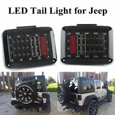 Rear LED Tail Light Assembly Turn Signal Back Up Lamp For Jeep Wrangler JK 07-17