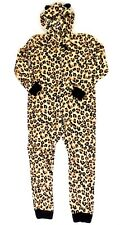 Womens Leopard Pajamas All-in-one Size L Animal Print Polyester Cozy