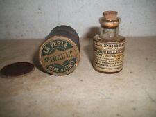LA PERLE Hammel Riglander Co France Vintage Clock Watch Oil Bottle Rare Cork Top