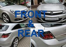 Le sopracciglia per Vauxhall/Opel Astra H GTC, TURBO anteriori + posteriori Palpebre coperchi in plastica ABS