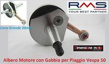 """0240 - ALBERO MOTORE CONO GROSSO 20mm  + GABBIA """"RMS"""" per Piaggio Vespa 50 FL/HP"""