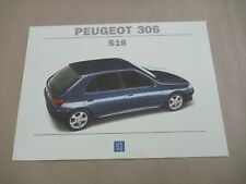 1994 PEUGEOT 306 S16 Catalogue Brochure Prospekt Dépliant French