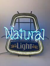 Authentic Vintage Natural Light Neon Sign Beer Light Shop Cave Lighted Bar Lite