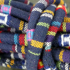 3m of Dark Blue Rope Cloth Ethnic Cord 6mm Jewellery Thread Thong - ET7