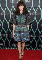 KENZO x H&M Patterned Jacquard Multi-Layered Floral Dress Frills XS Mini Blue