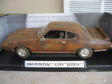 1:18 1969 Pontiac GTO Judge Barn Find Unrestored RAT ROD V-8 HOT Patina Diecast
