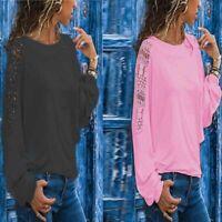 Long Sleeve Loose Blouse Tops Solid T-shirt Summer Ladies Women's Shirt Fashion