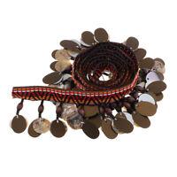 1 Yard Ethnic Sequins Shell Beaded Tassel Edging Fringe Trim Clothing Decor