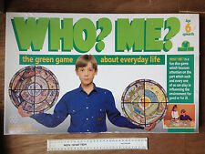 Who? Me? Board Game family children: educational ecology VINTAGE Hazel Mill game
