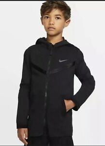 NWT NIKE SPORTSWEAR BLACK TECH PACK HOODIE SZ: BOYS SMALL #BV3550 010