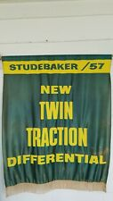 1957 STUDEBAKER DEALERSHIP BANNER SIGN