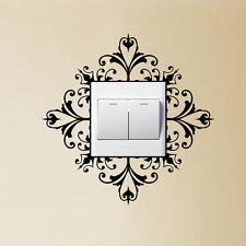 Light Switch  Wall Art Decal Sticker Scroll Damask Pretty Gift House Home