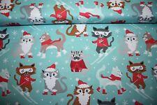 Baumwolle Snowlandia - tierische Weihnachten Kätzchen Von Blend Fabric