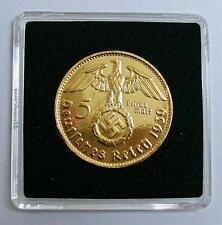 5 Reichsmark 1936 mit HK - 24 Karat vergoldet - Kapsel