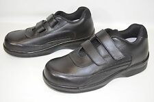 Apex Ambulator Double Strap Shoes Extra Depth Black Leather Men's Size 9.5 NWOB