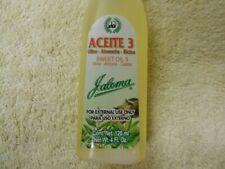 2 Jaloma Sweet Oil 3 Olive-Almond-Castor 4 oz / 2 Aceite 3 Olivo-Almendra-Ricino