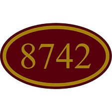 Personalized House Address Custom Plaque Aluminum Metal Burgundy and Gold Sign