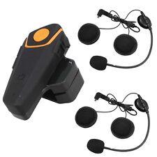 BT-S2 Bluetooth Intercom Motorcycle Helmet Interphone FM Radio+Earpieces 1000M