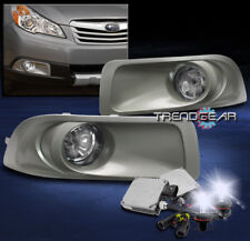 2010-2012 SUBARU OUTBACK BUMPER DRIVING FOG LIGHT CHROME W/8000K HID KIT+HARNESS