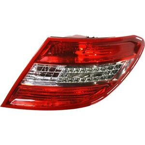 Halogen/LED Tail Light For 2008-2011 Mercedes Benz C300 USA Type Right Clear/Red