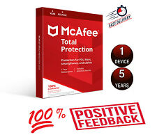 Mcafee Total Protection Antivirus ✅ 2020 License Key ✅ 5 years 1 Device Windows