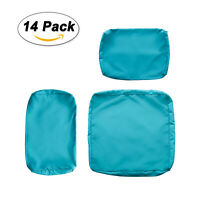 Washable Cushion Cloth Covers for 7 PCS Outdoor Rattan Wicker Sofa Set Turquoise