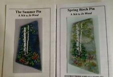 Lot of 2 Jo Wood beading kits, Spring Birch Pin, Summer Pin, bead appliqué
