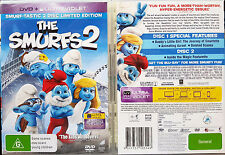 THE SMURFS 2 DVD + UV ULTRAVIOLET 2-DISC region 2,4,5 BRAND NEW oz seller