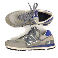 New Balance 574 Running Shoes Womens Size US 11M Gray Blue Suede Lace Up Casual