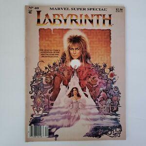 Labyrinth Marvel Super Special #40 Comic Adaptation John Buscema Romeo Tanghal