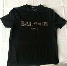 BALMAIN T-Shirt Weiß XL Mit Roter Schriftzug