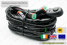 LED HID Offroad Bar 4x Connectors Wiring Harness Conversion Loom Power Supply