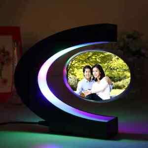 C Shape Electronic Magnetic Levitation Creative Night Light Floating Frame Lamp