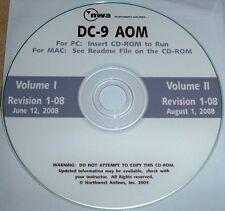 NWA McDonnell Douglas DC-9 aircraft operating manual cd-rom Volume 1 & II AOM