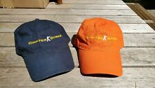 Lot of 2 Counter Strike Global Offensive CSGO Hat Caps Orange and Navy