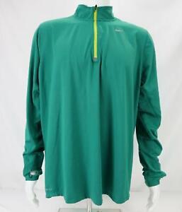 Nike Element Dri-Fit 1/4 Zip Running Pullover Top Teal Green Men's XL