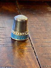 Antique David Anderson Thimble Sterling Enamel