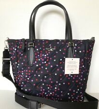 New Kate Spade Jae Festive Confetti Quilted Medium Satchel Nylon handbag multi