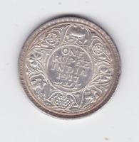 1916 One Rupee Silver Coin India - British George VI R-645