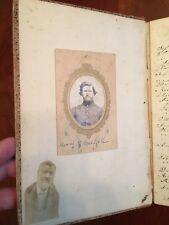 1862-1866 32nd Wisconsin Soldier Civil War Handwritten Diary MEMPHIS MISSISSIPPI
