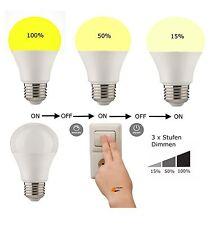 LED E27 10W Dimmbar 3 x Click mit Ihrem Lichtschalter kein Dimmer nötig NEUHEIT