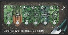 NEW ZEALAND 2017 GROW YOUR OWN (VEGETABLES) MINIATURE SHEET FINE USED