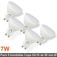 Pack 5 Bombillas LED 7W de copa ojo de buey 50mm Ø casquillo GU10 510Lm LED26