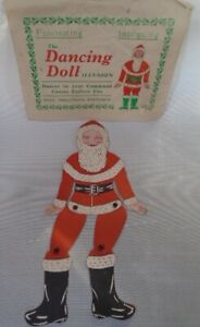 RARE VINTAGE SANTA FATHER CHRISTMAS PAPER DOLL ARTICULATED DANCING DOLL