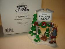 Dept 56 New England Village - Fresh Paint NE Village Sign