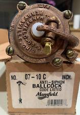 Mansfield 07-10 C Anti-Siphon Brass Ballcock