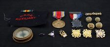 Lot of Vintage Military Pins and Buttons Coast Guard Civil War WWII and Compass