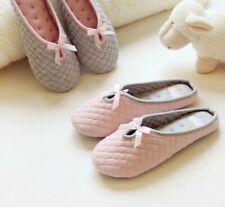 Women's Lovely Bowtie Winter Home Slippers For Indoor Bedroom House Soft Slipper
